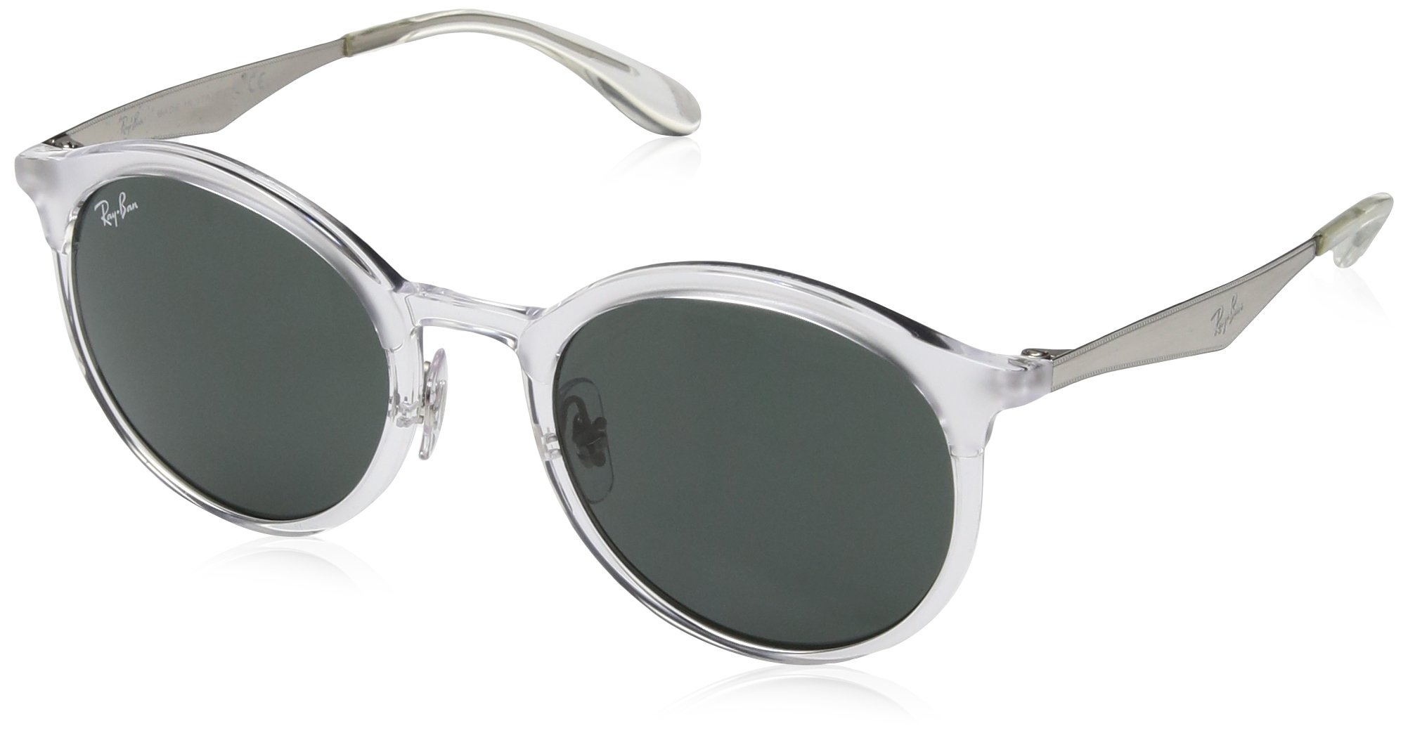 Ray-Ban Injected Unisex Round Sunglasses, Transparent, 51 mm by Ray-Ban (Image #1)