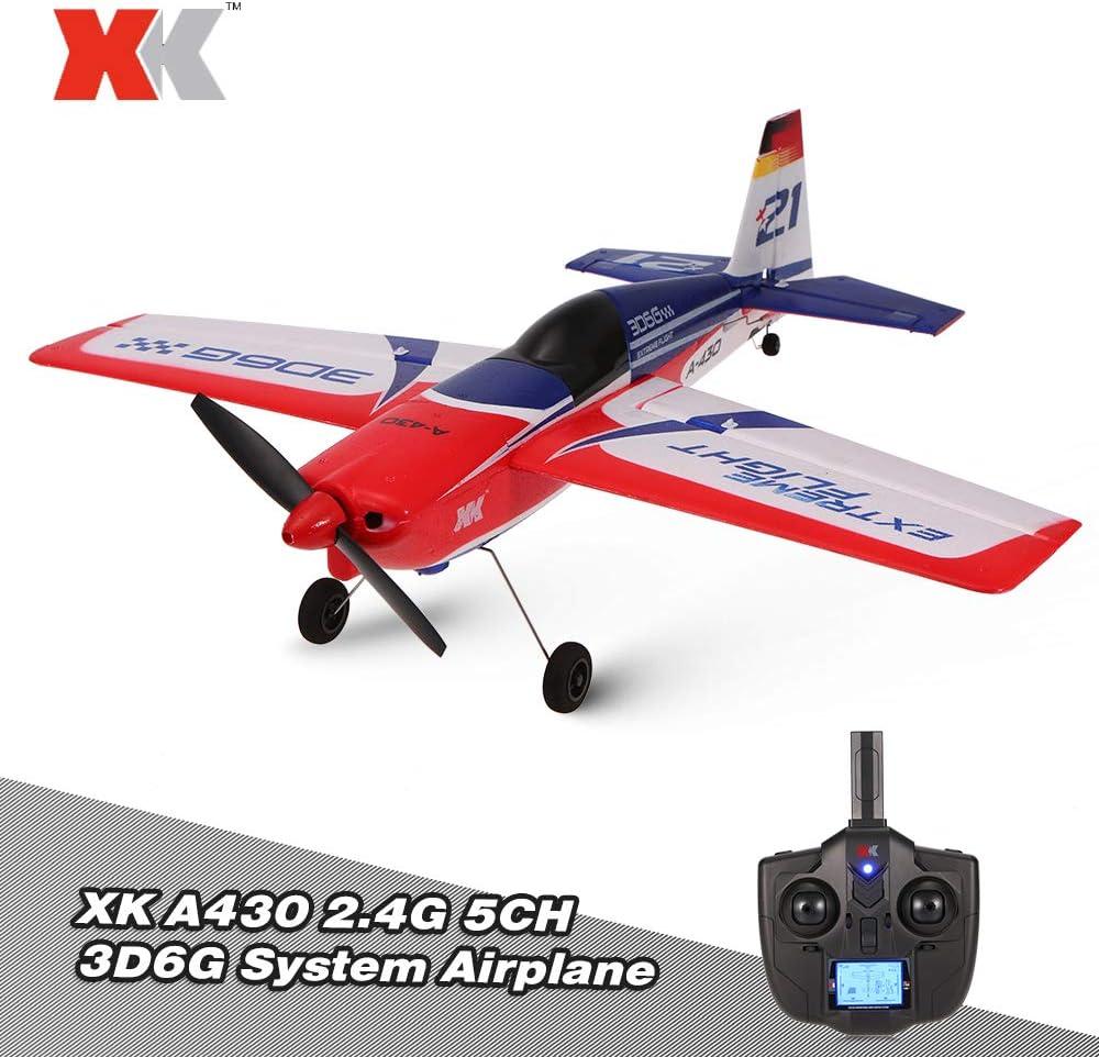 【】XK A430 2.4G 5CHブラシレスモーター3D6GシステムRC飛行機430サウナ翼幅EPS航空機の互換性フタバS-FHSS RTF