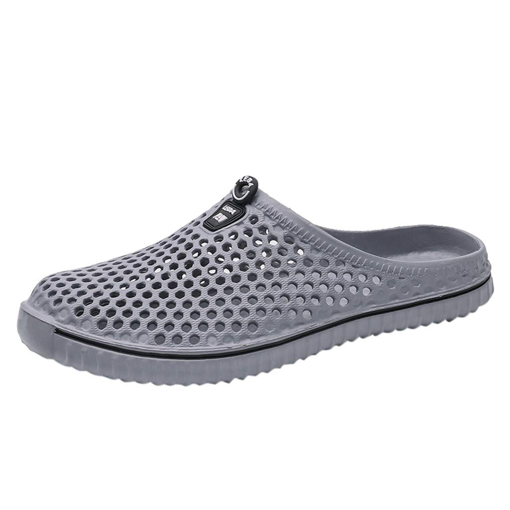 HYIRI Breathing Hole Flip Flops Shoes,Unisex Hollow Out Casual Couple Beach Sandal Gray