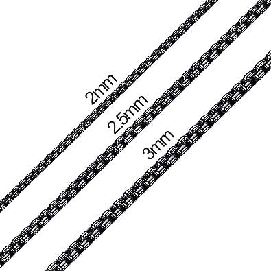Amazon.com: Xiuda - Cadena cuadrada de acero inoxidable de 2 ...