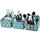 homyfort Cosmetic Storage Makeup Organizer, DIY Adjustable Multifunction Storage Box Basket Bins for Makeup Brushes…