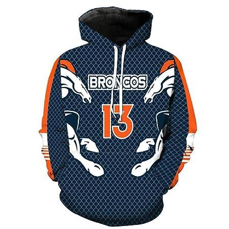 C&NN Uniforme Hombres Denver Broncos Equipo de fútbol de la NFL ...
