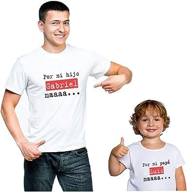 Regalo Personalizado para Padres e Hijos: Pack de Camisetas o ...