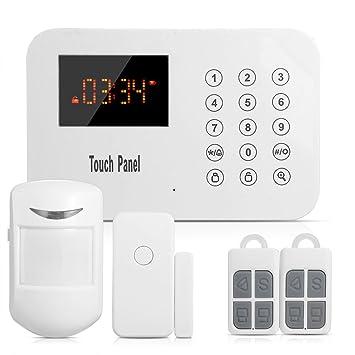 Sunluxy® Inalámbrica LCD Alarma con voz Invitación y alarma ...