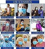 50 PCS Blue Face Masks, Non Woven Thick 3-Layers