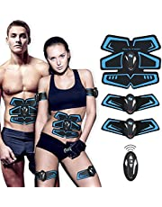 【New Version 2018】ABS Trainer EMS Muscle Stimulator with Remote Control - USB Rechargeable Ultimate Abdominal Stimulator with Rhythm & Soft Impulse for Men Women