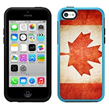 Skin Decal for OtterBox Symmetry Apple iPhone 5C Case - Canada Vintage Flag