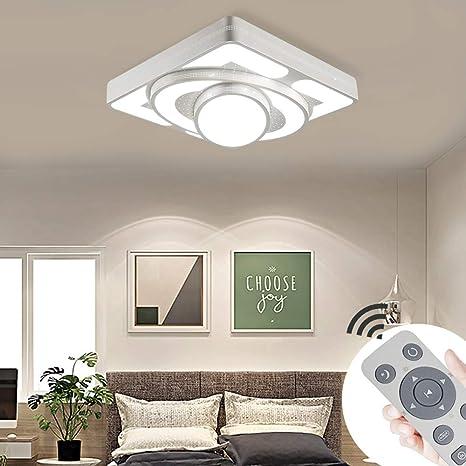 MIWOOHO 48W Deckenleuchte LED Deckenlampe Dimmbar Wohnzimmer Lampe Modern  Deckenleuchten Schlafzimmer Wandlampe Wohnzimmer [Energieklasse A++]