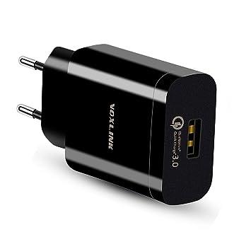 Quick Charge 3.0 Cargador Móvil 18W QC 3.0 Cargador de Red USB Carga Rapida para Samsung S9 / S8 / S7 / S6 Edge/Plus, Note 8, Huawei P20, Xiaomi, LG ...