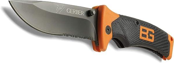 Gerber Bear Grylls Folding Sheath Knife, Serrated Edge