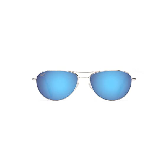 703c159c9e Maui Jim B245-17 Silver Baby Beach Aviator Sunglasses Polarised Lens  Category 2: Amazon.co.uk: Clothing