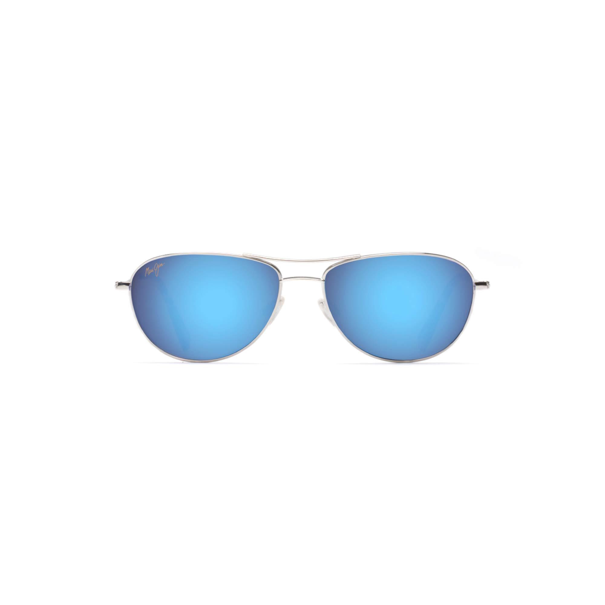 ویکالا · خرید  اصل اورجینال · خرید از آمازون · Maui Jim Sunglasses | Baby Beach B245-17, Silver with Blue, with Patented PolarizedPlus2 Lens Technology wekala · ویکالا