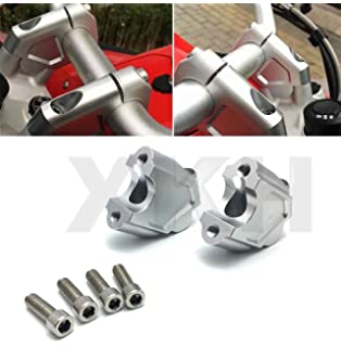 32mm Rise Silver R1200GS LC 13-18 /& R1200GS LC Adventure 14-18 25mm Back SW-MOTECH Barback Handlebar Risers For BMW S1000XR 15-18