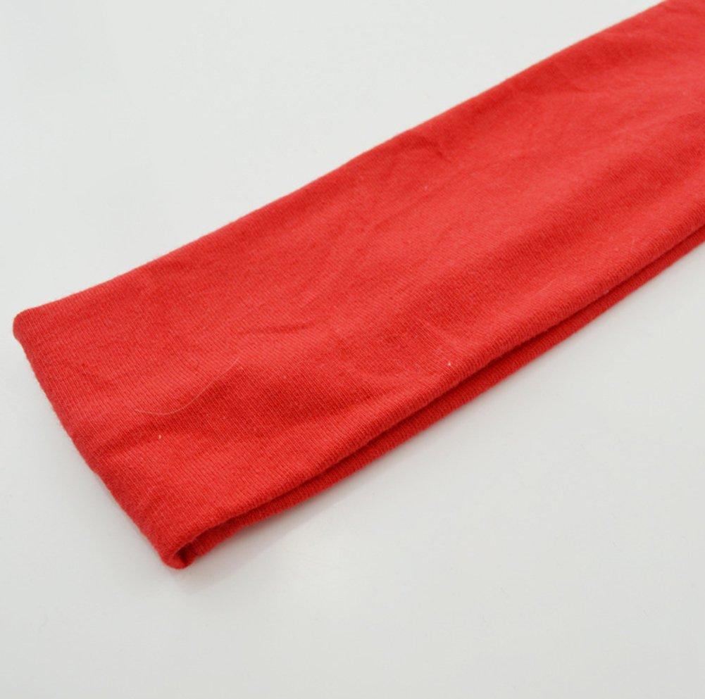 Rojo Kanggest 1 Piezas Unisex Deportes Venda Para El Pelo Alta Elasticidad Banda de Sudor Cinta de Pelo Yoga Banda Para la Cabeza para Adornos Para el Pelo