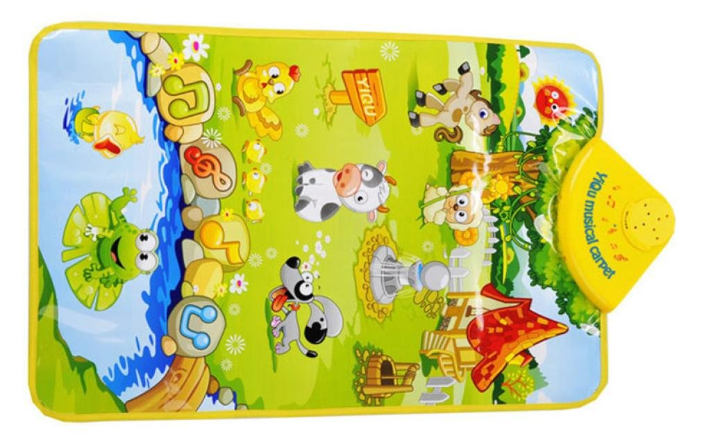 Juguetes educativos, YanHoo® Niños bebé Animal de Granja Toque de Música Musical Jugar Cantando Alfombra de Gimnasio Juguete de Regalo 1PC (Multicolor): ...
