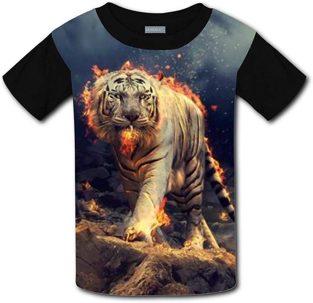 Shirts Short Sleeve Kids Tee Unisex Youth 3D Tiger Animal Punk Rock 3D Print Funny T