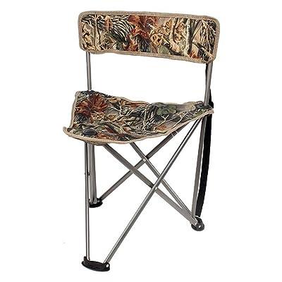 GHM Chaise extérieure de camping en plein air chaise portative de pêche de pique-nique pliante Triangle