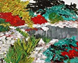 Painting, Original art ''Japanese Garden, Norfolk Botanical Gardens'' (2018-19) Landscape, 20 x 16 inches