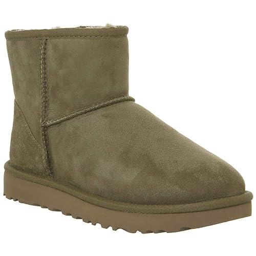 UGG Leder Boots Classic Mini II in Beige günstig kaufen