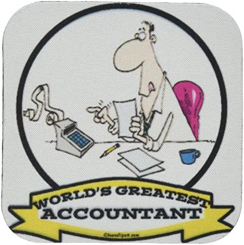 3dRose cst_102911_2 Funny Worlds Greatest Accountant Occupation Job Cartoon-Soft Coasters, Set of 8