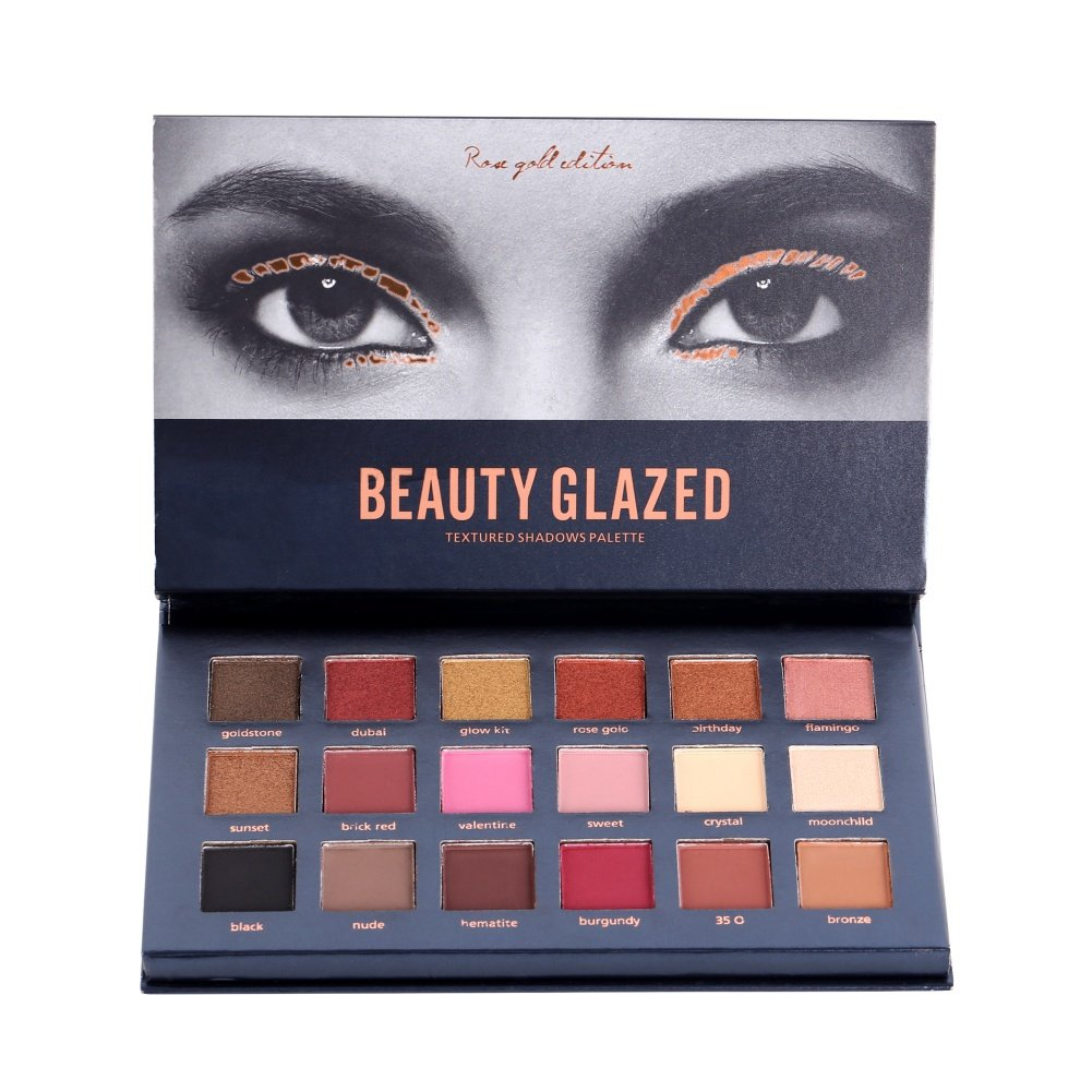 18 Colors Eye Shadow Palette Waterproof Durable Matte Shimmer Eye Make-Up Pretty Comy
