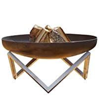 Feuerschale Edelstahl Corten XXL bronze Fire Bowl ✔ rund ✔ rostig (Edelrost)