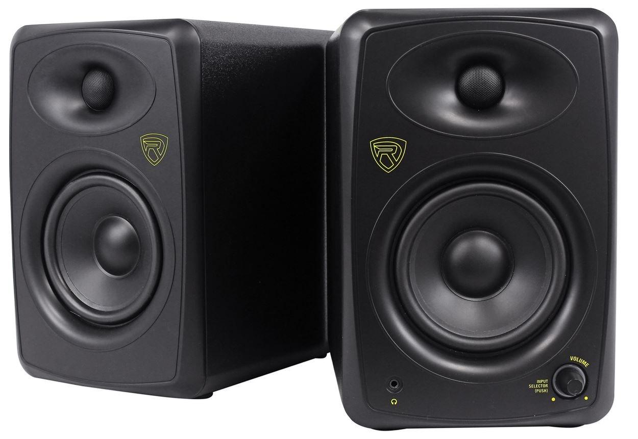 Rockville ASM5 5'' 2-Way 200W Active/Powered USB Studio Monitor Speakers Pair