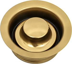Kitchen Sink Garbage Disposal Flange and Sink Stopper, fit 3-1/2 Inch Standard Sink Drain Hole Colour Golden