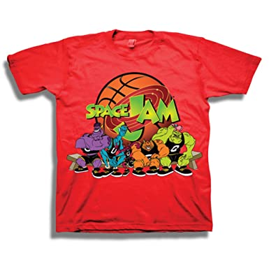 cf752e5e Amazon.com: Looney Tunes Boys' Big Boys' Space Jam the Monstars Squad Short  Sleeve T-Shirt, Red, S-8: Clothing