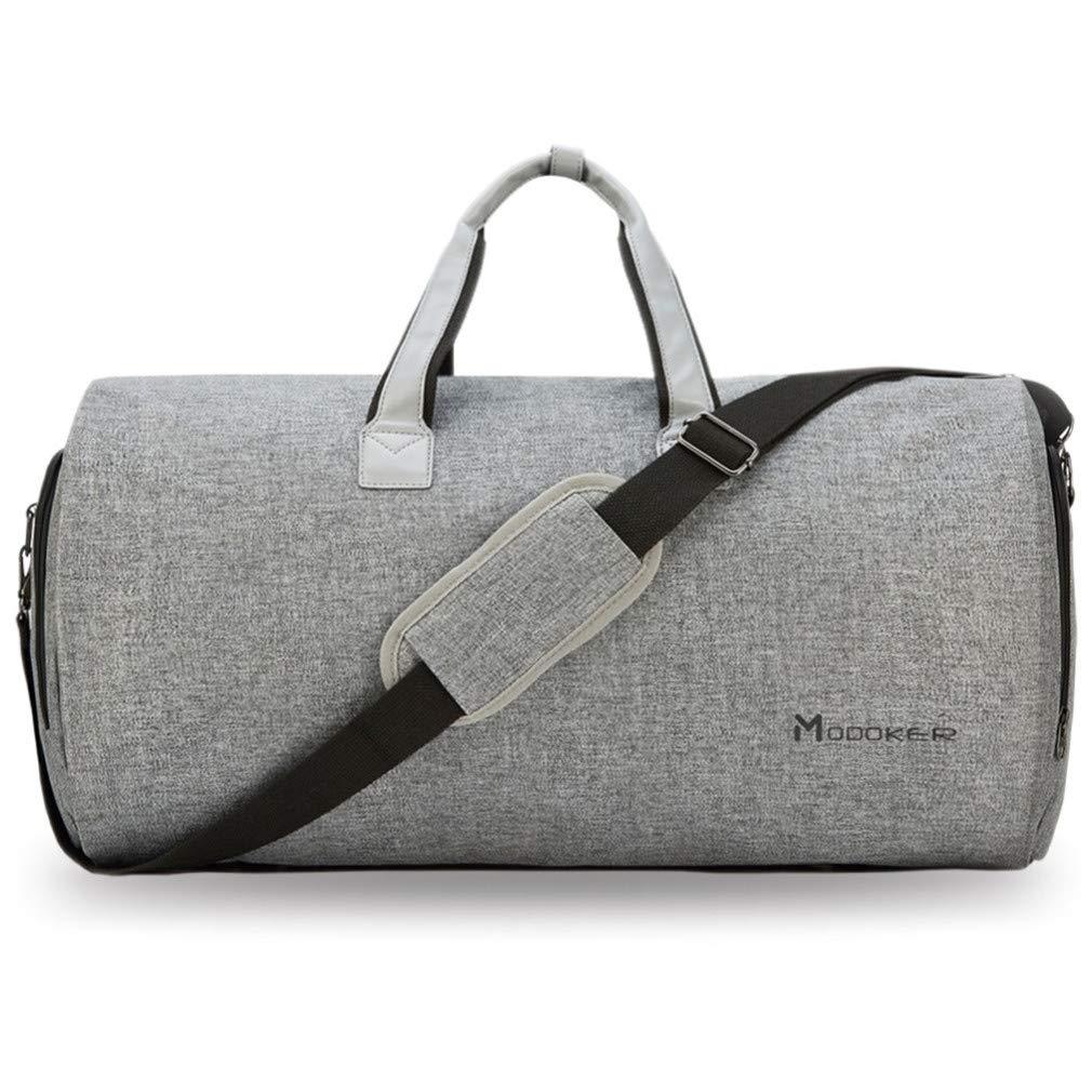 Mkangheting Garment Bag with Shoulder Strapduffel Bag Carry on Hanging Suitcase Clothing Travel Business Bag Multiple Pockets