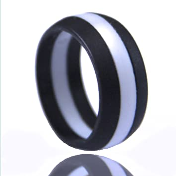 Amazon Com Men S Silicone Wedding Band Safe And Durable Silicone
