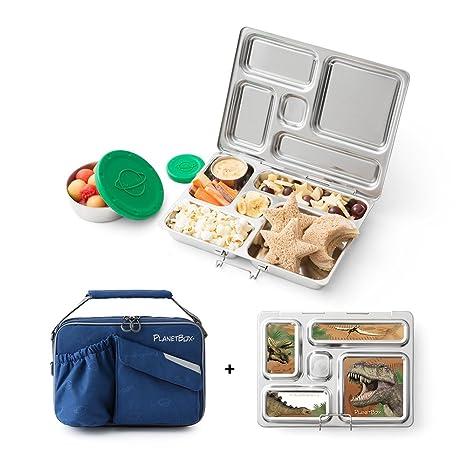 Amazon.com: Caja para almuerzo Planetbox Rover de acero ...