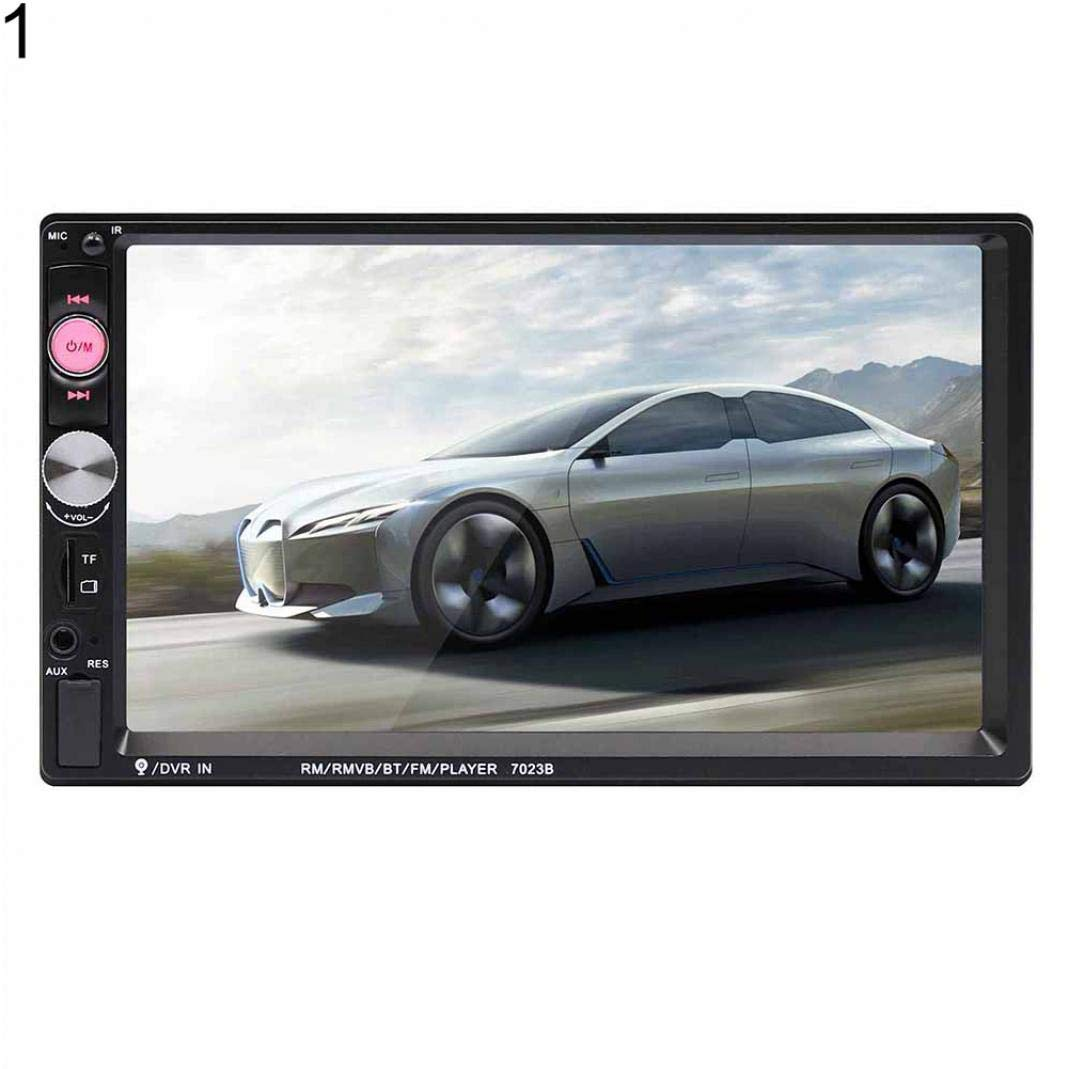 YUSHHO56T Car MP5 Player Car Intelligent System MP5 Player 7023B 7 Inch 2 Din Car Radio Bluetooth Audio Video MP5 Player with Rear Camera with 4-LED Rear Camera