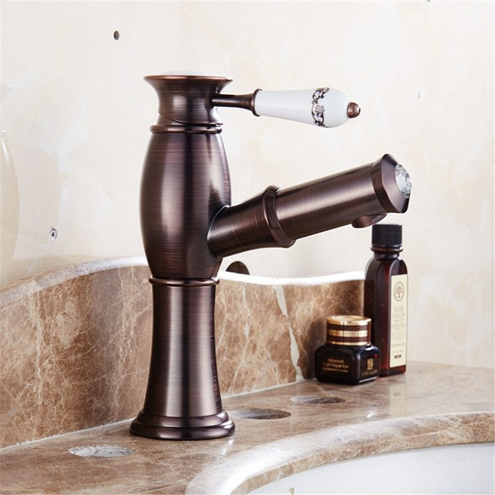 Gyps Faucet Basin Mixer Tap Waterfall Faucet Antique Bathroom Mixer Bar Mixer Shower Set Tap antique bathroom faucet The ORB process brown antique pull antique brass single handle one hole ceramic val