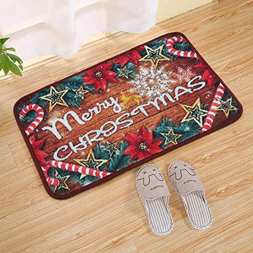 Junovo Merry Christmas Holiday Door Mats Entrance Anti Slip Doormat Indoor Outdoor Rugs Welcome Home Bathroom Front Door Decor Carpets 15.7x23.6 inch