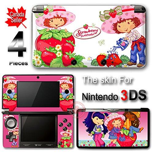 Nintendo Ds Strawberry (Strawberry Shortcake Pink SKIN STICKER for Nintendo 3DS)