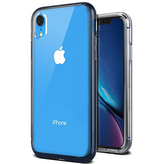 best loved 32cde dbb66 VRS DESIGN iPhone XR Case, [Blue] Transparent Dual Layer Heavy Duty ...