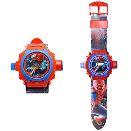 Generic 24 Images Spiderman Projector Watch For Kids Diwali Gift Birthday Return