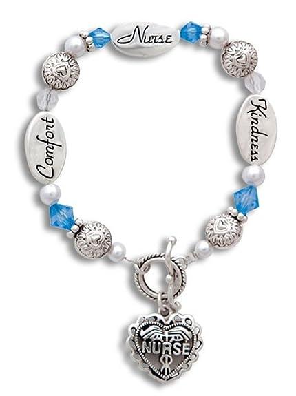Amazon.com: Mol joyas Enfermera Comfort Higa regalo pulsera ...