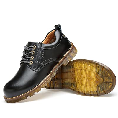 KUO LI Men's 831Big Head Tooling Shoes Martin Oxford Shoes Oxfords
