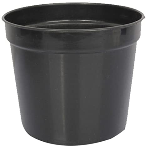 First Smart Deal 7 Inch Plastic Nursery Planter Pot Pack of 6 - Black