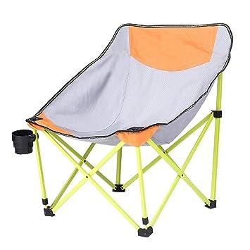 CATRP-Sillas de camping, Plegable Portátil Silla Luna Al Aire Libre ...