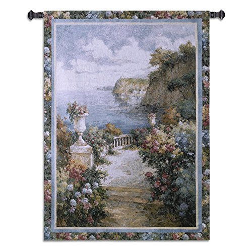 "UPC 666576043508, Tranquil Overlook Tapestry Style: Feather White 44"" - 101"""