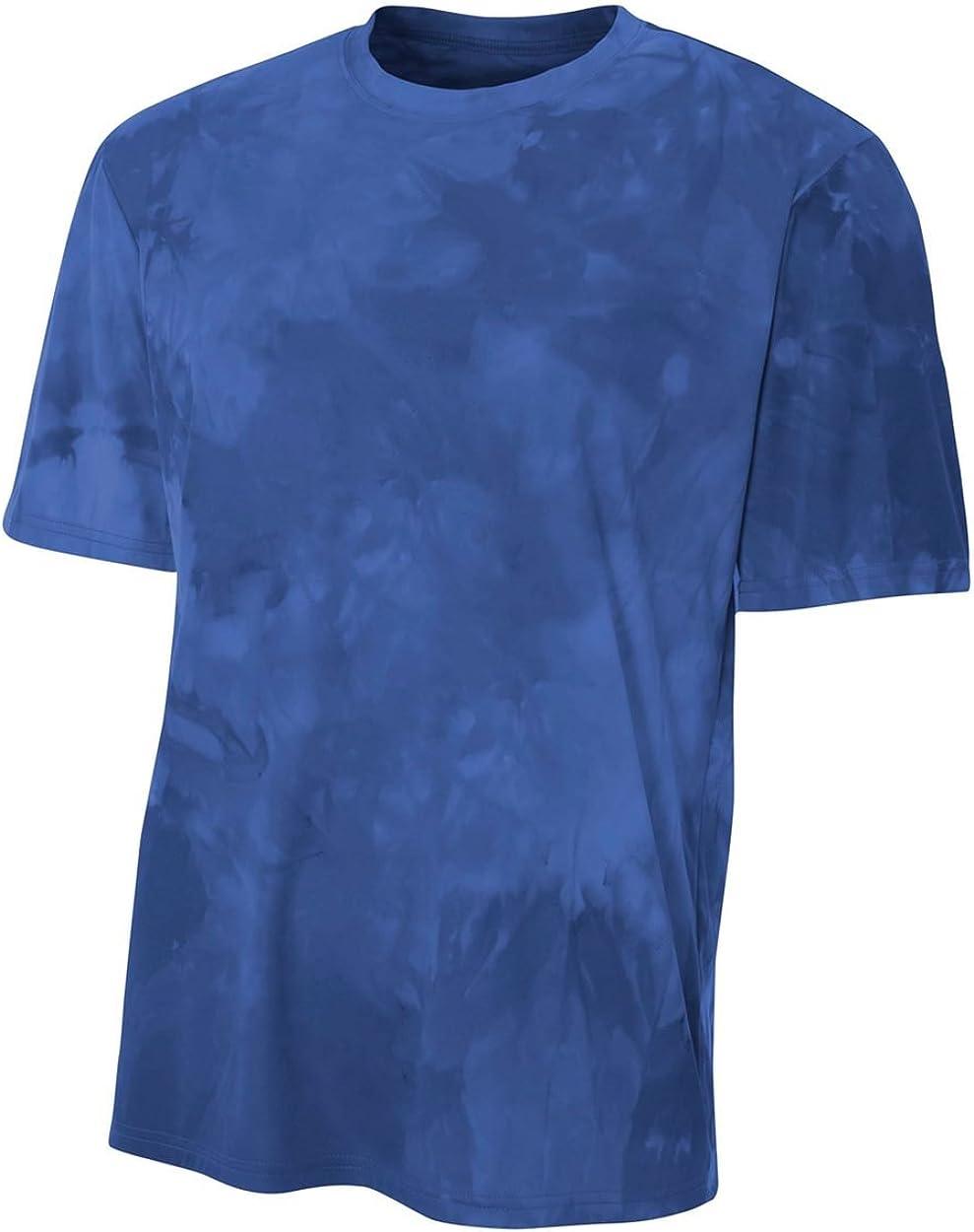 Authentic Sports Shop Navy Blue Mens Adult Medium Cloud Dye Tech Moisture Wicking Cool Base Tee