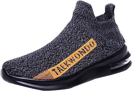 Garçons Noir Bateau Pont Chaussures Sans Lacets Escarpins Enfants Toile Chaussures Taille UK 10-2