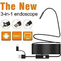 GuDoQi HD Boroscopio Endoscopio USB 3 en 1