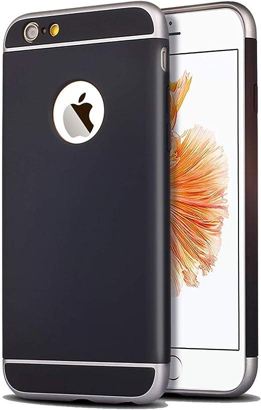 Funda para Apple iPhone 6 y 6S (4,7 pulgadas) 3 en 1 a prueba de golpes, extremamente delgada Funda protectora de parachoques trasero para Apple iPhone 6 y 6S negro: Amazon.es: Electrónica