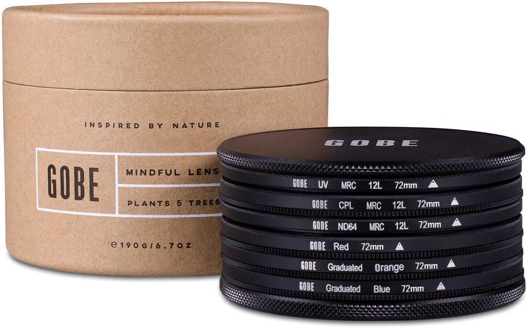 1Peak ND64 Circular Polarizing Gobe 82mm UV Graduated Orange Graduated Blue Lens Filter Kit Red