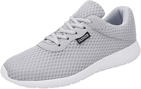 LuckyGirls Zapatillas de Correr para Hombre Malla Casual Calzado de Deporte Zapatos Planos Deportivos Moda Bambas de Running Zapatos con Cordones: Amazon.es: Deportes y aire libre