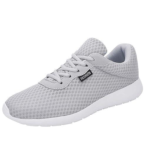 Zapatos Hombre Black Friday Casuales Invierno Hombres, Zapatos de Malla para Exteriores, con Cordones y Suelas cómodas, Zapatos Deportivos para Correr: ...